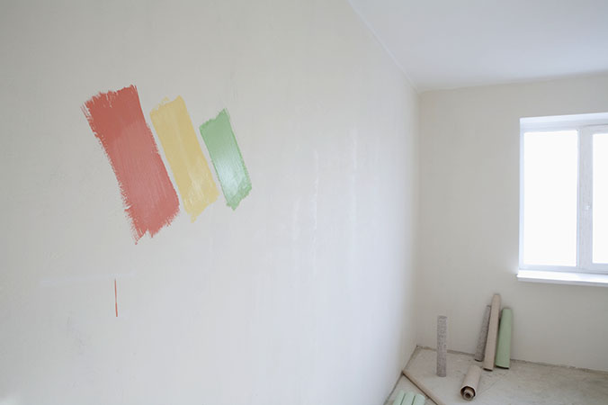 empty room ready for painting