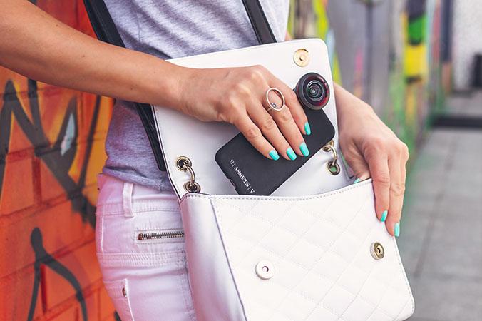 girl smartphone bag