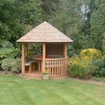 small wooden gazebo