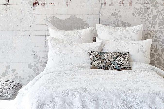 white luxury duvet cover